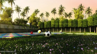 Modern Contemporary Landscape designs in 3dsmax Vray Multiscatter