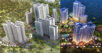 Highrise apartments india 3d exterior