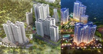 Highrise apartments india 3d exterior
