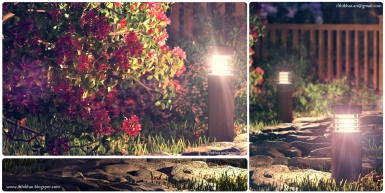 Night light - The FireFly Cottage - 3dsmax Vray - Case study, Cottage Architecture