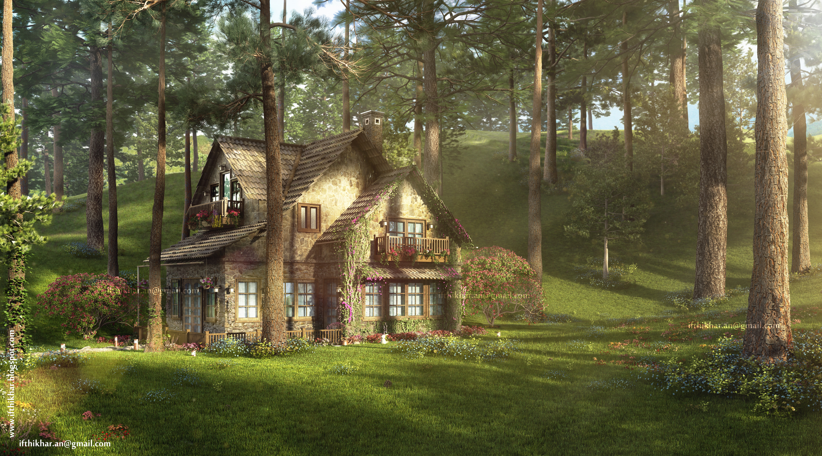 The firefly cottage 3dsmax vray case study cottage architecture ifthikhar an - Cottage image ...