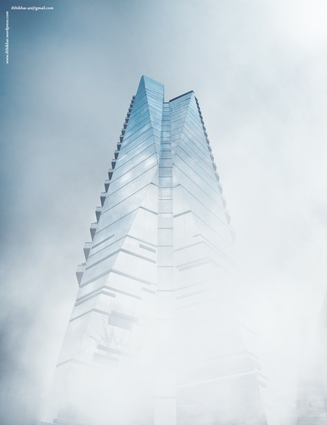 Glass Tower Vray Day Fog