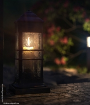 Night light - Candle light - The FireFly Cottage - 3dsmax Vray - Case study, Cottage Architecture