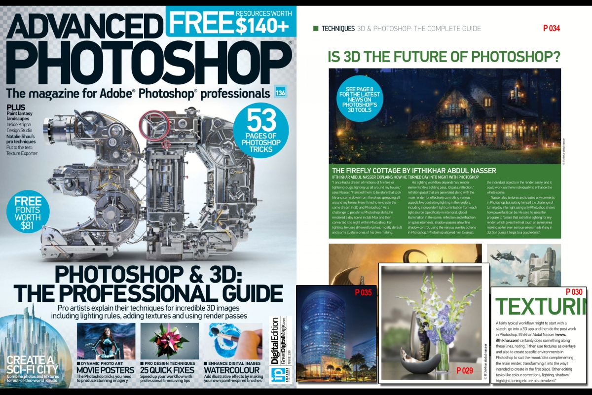 Ifthikhar abdul nasser featured in Advanced Photoshop Issue 136