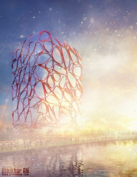The Halcyon - 3dsmax Vray Glass Tower