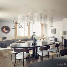 city apartments interior ponte vray 3dsmax photorealistic interior render 2016 new york city apartments 3d design and visualization